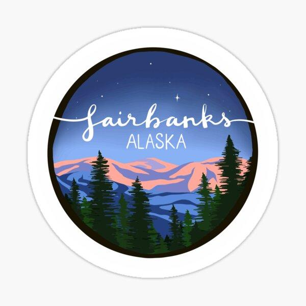 Fairbanks, Alaska - SUNSET Sticker