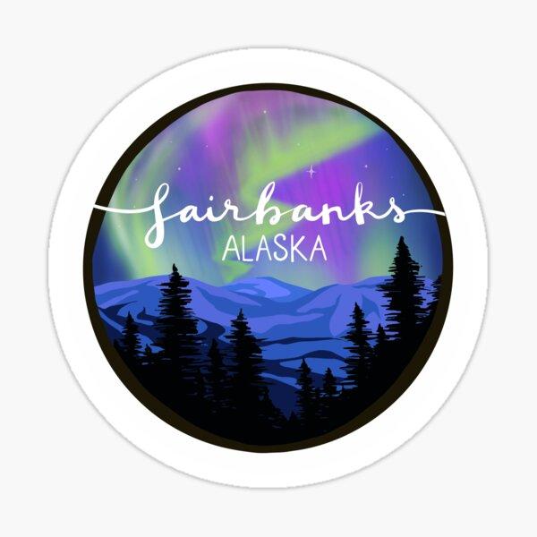 Fairbanks, Alaska - NORTHERN LIGHTS Sticker