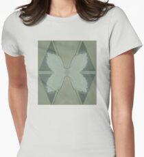 Flowers, checker Women's Fitted T-Shirt