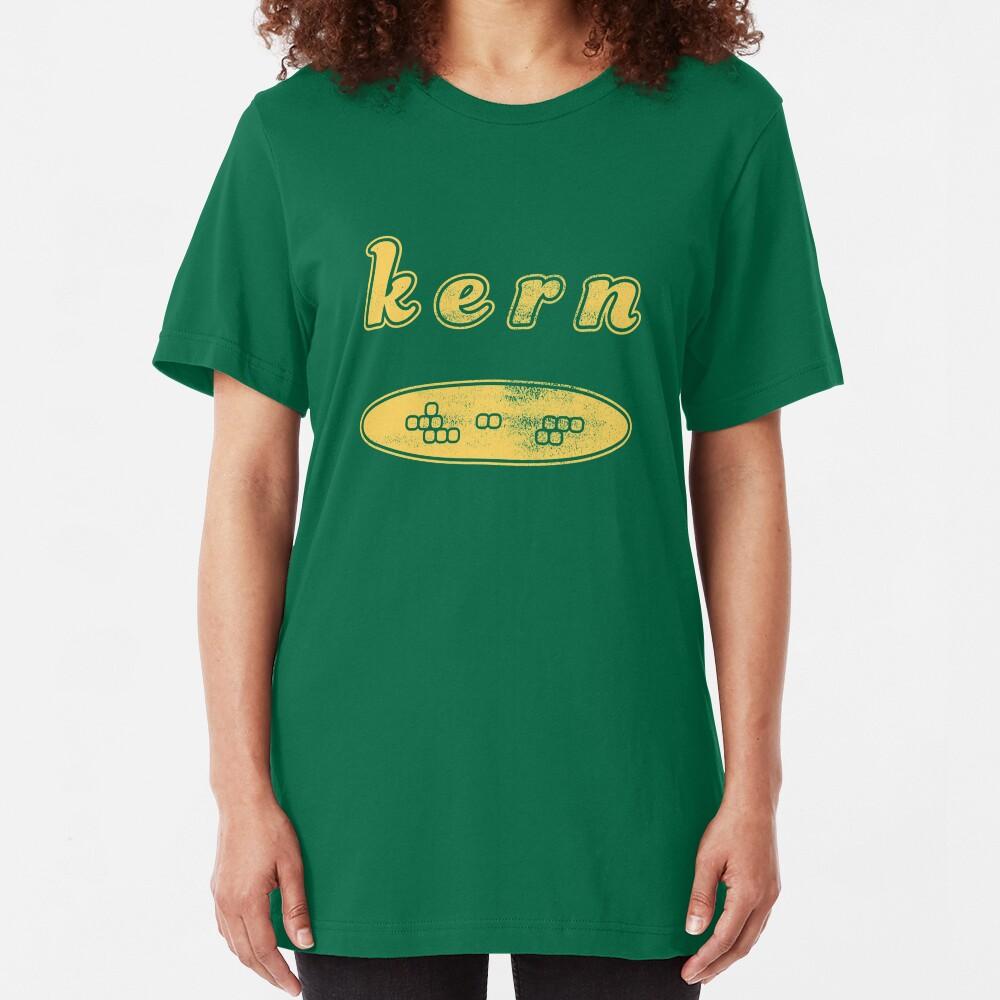 Graphic Designer Humor Kern on the Cob Slim Fit T-Shirt