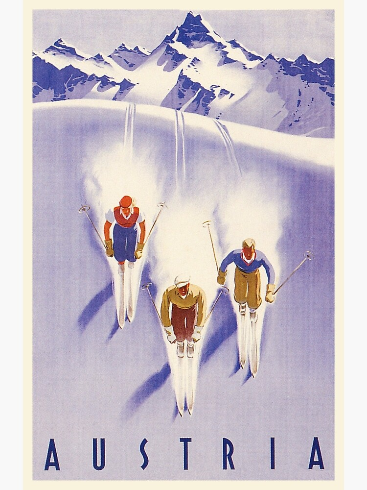 Travel Tourism Winter Sport Ski Snow Norway Skier 12X16 Inch Framed Art Print