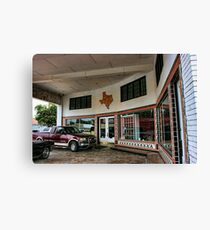 Grimes Garage in Hillsboro, Texas Canvas Print