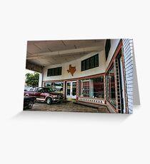 Grimes Garage in Hillsboro, Texas Greeting Card
