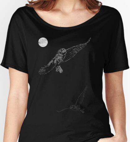 Full Moon Night Owl Women's Relaxed Fit T-Shirt