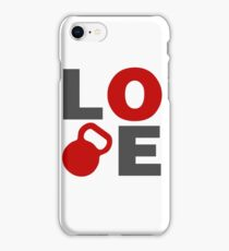 Love Kettlebell Workout Gym Exercise iPhone Case/Skin