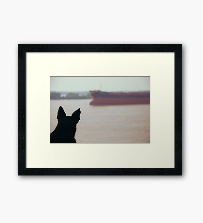 Life by the Parana River... Framed Print