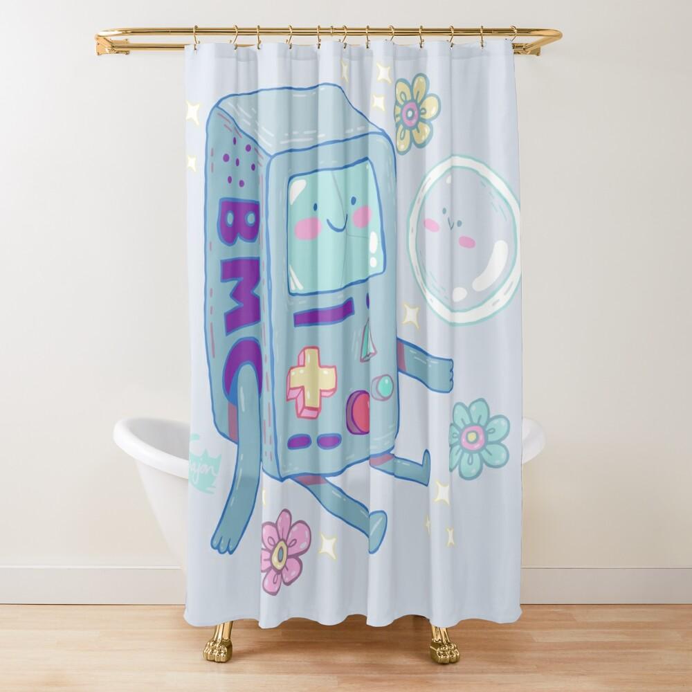 BMO & Bubble Shower Curtain