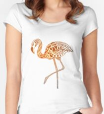 Tribal Flamingo - Mocha Women's Fitted Scoop T-Shirt