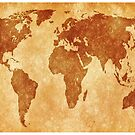 Antique World Map by Leatherwood   Design