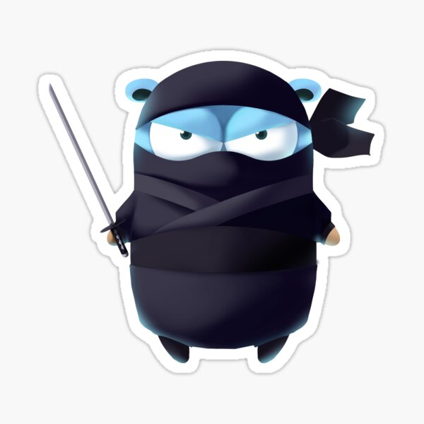 Golang Gopher Ninja Sticker