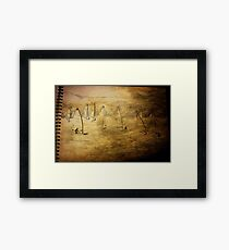 Sailing into a Cartridge paper Night. Framed Print