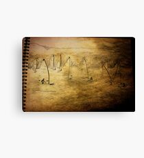 Sailing into a Cartridge paper Night. Canvas Print
