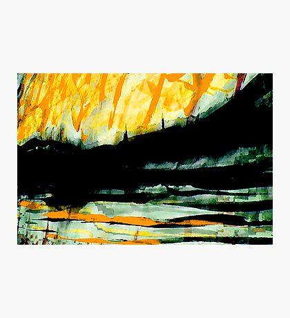 rhine sunset in yellow.... Photographic Print