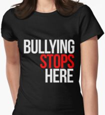 Bullying stops here Women's Fitted T-Shirt