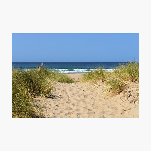 Sandy path to the ocean Photographic Print