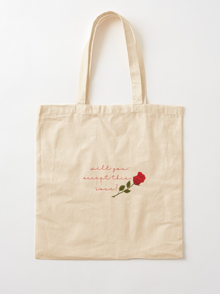 Alternate view of will you accept this rose? Tote Bag