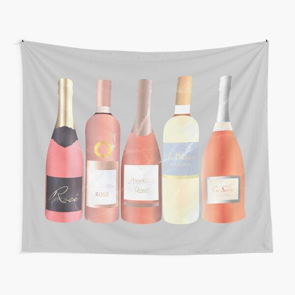 Rosé Bottles Tapestry