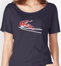 Santa Claus Goes Ski Jumping Women's Relaxed Fit T-Shirt