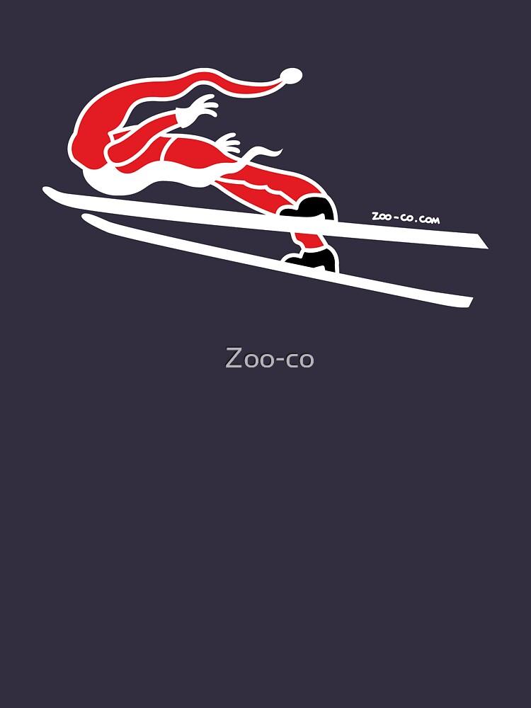 Santa Claus Goes Ski Jumping by Zoo-co