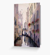 Venice Backstreet Greeting Card