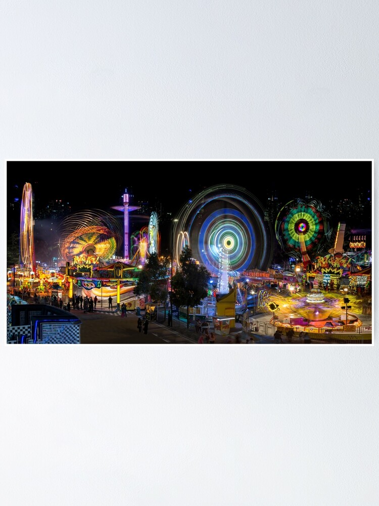 Alternate view of Fairground Attraction (full panoramic image) Poster