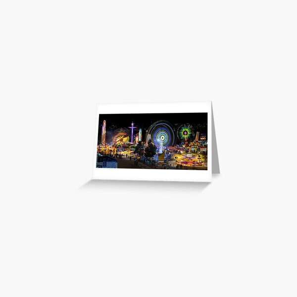 Fairground Attraction (full panoramic image) Greeting Card