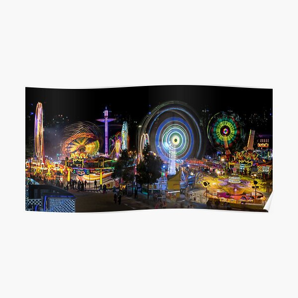 Fairground Attraction (full panoramic image) Poster