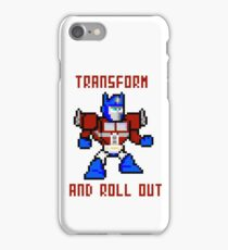 8bit Optimus Prime Transformers iPhone Case/Skin