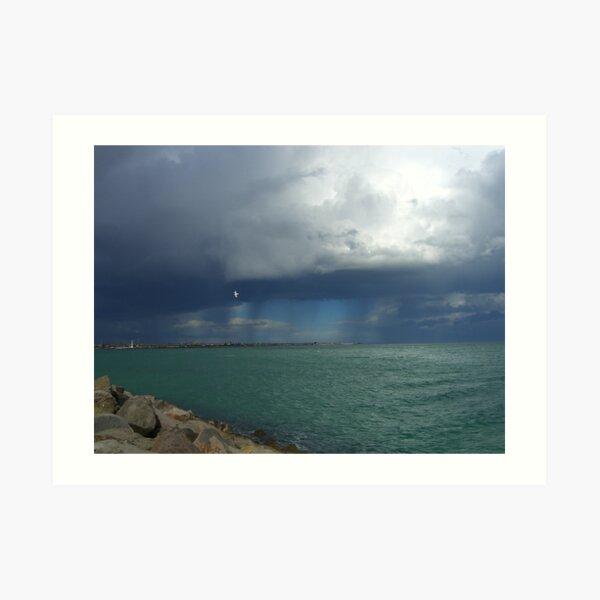 St Kilda sea meets sky Art Print
