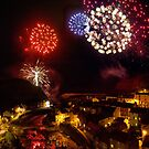 Staithes Fireworks by Dave Hudspeth
