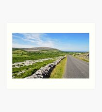 The Burren National Park, County Clare, Ireland Art Print