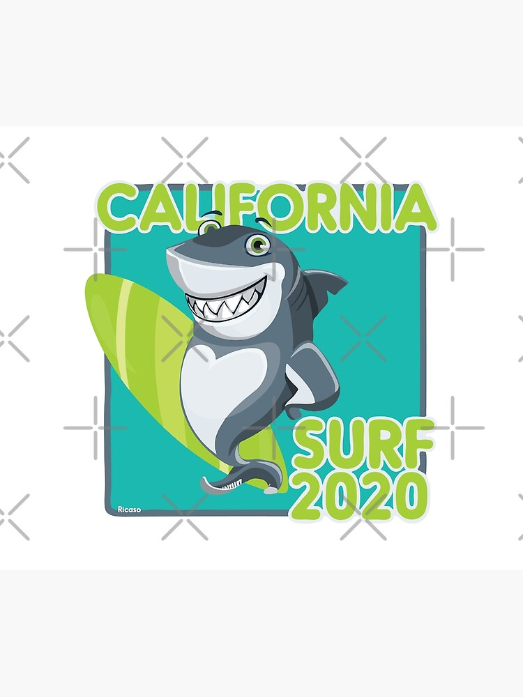 Surfer Shark California Surf 2020 by Ricaso