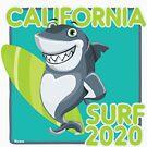 Surfer Shark California Surf 2020 by Ricaso