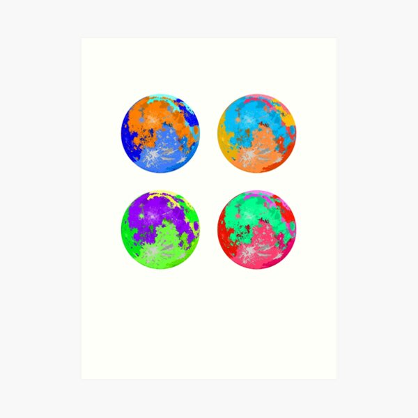 Saturated Moons Art Print