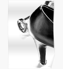 High-heeled shoe with an empty bottle Poster