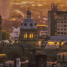 Sunset Over The Council House by Chris Fletcher