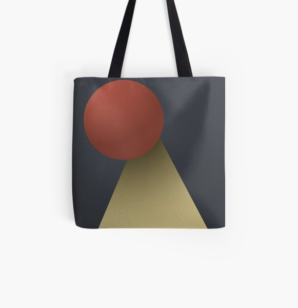 Red Hole Sun All Over Print Tote Bag