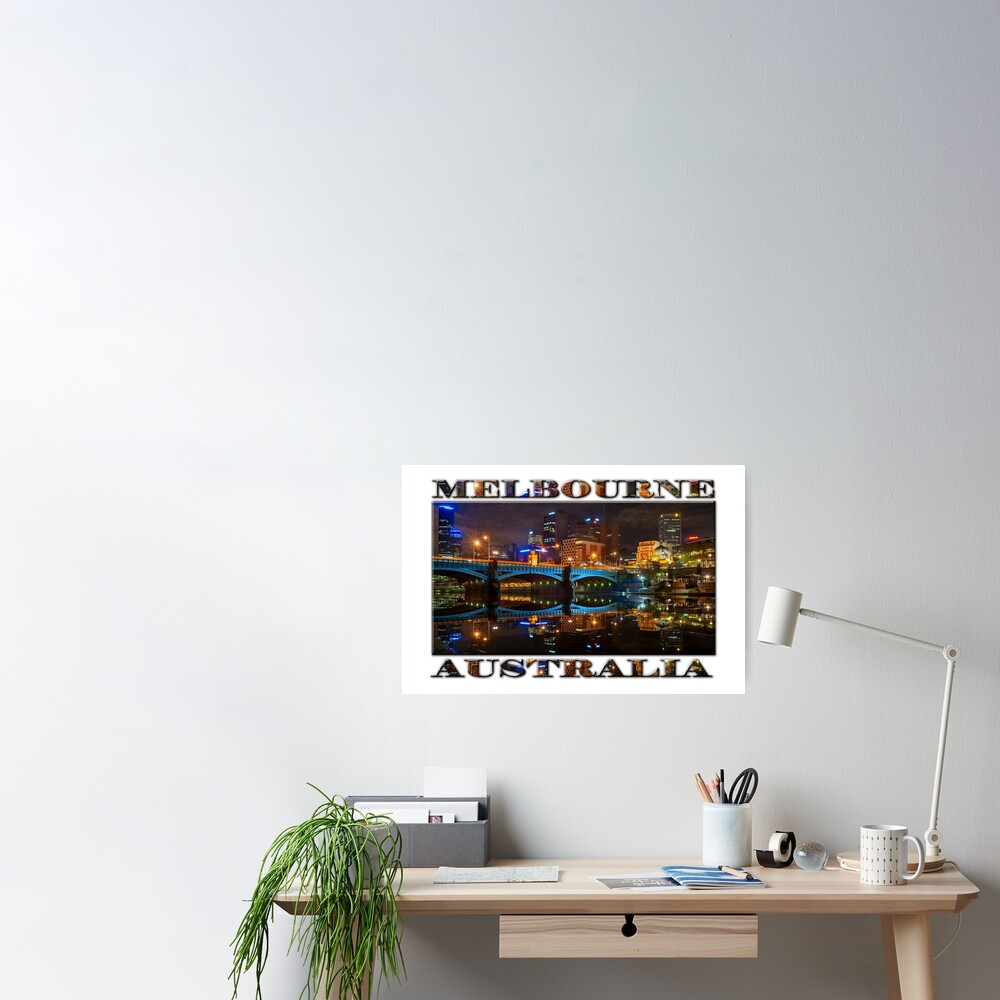 Reflective City (widescreen poster edition on white) Poster