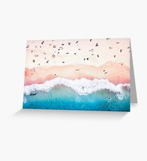 Aerial Sandy Beach Greeting Card
