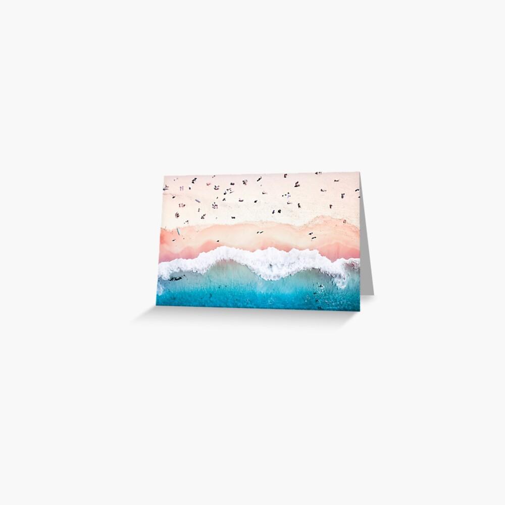 Aerial Sandy Beach Greeting Card