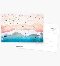 Aerial Sandy Beach Postcards