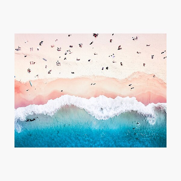 Aerial Sandy Beach Photographic Print