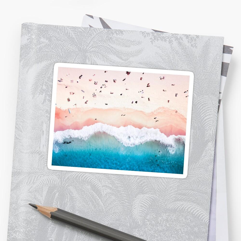 Aerial Sandy Beach Sticker