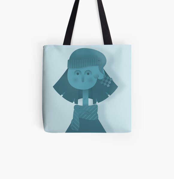 Cold Winter Day All Over Print Tote Bag