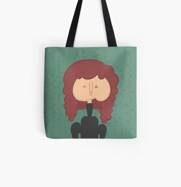 Curly Spring All Over Print Tote Bag