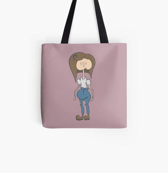 Boyish Girl All Over Print Tote Bag