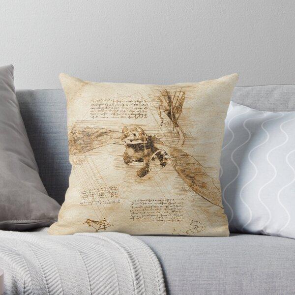 Nightfury -Da Vinci style Throw Pillow