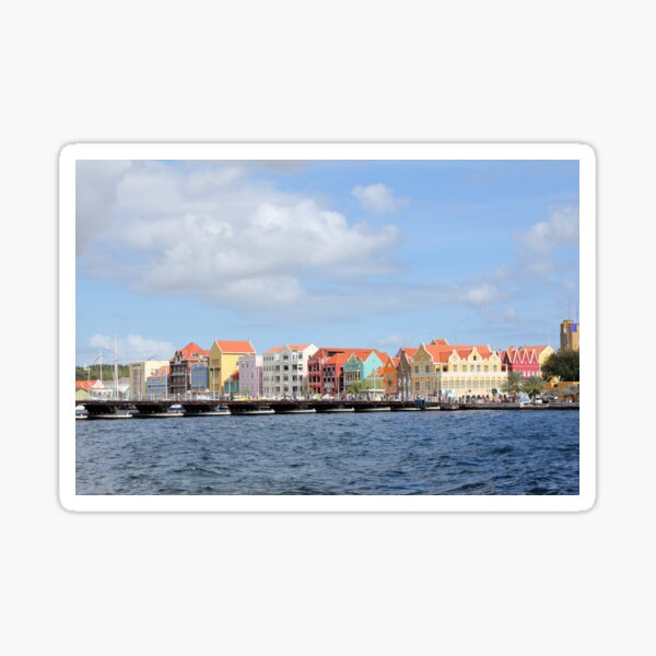 Colorful Houses of Willemstad, Curacao Sticker