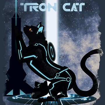 Tron Cat by mewbits