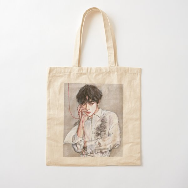 RED STRING #1 Cotton Tote Bag